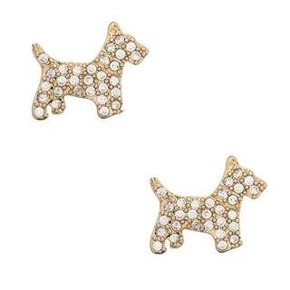 Kate spade ny pave scotty dog stud earrings