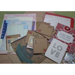 Assorted Journaling/ Stationery Items