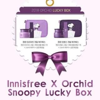 Innisfree Snoopy Orchid Lucky Box (Light Purple)