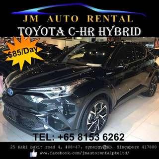 Toyota C-HR Hybrid Cars for rental
