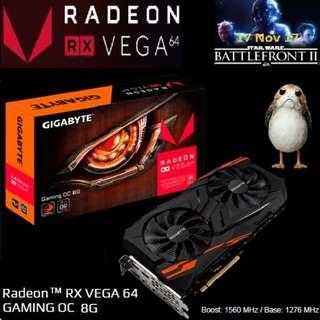 GIGABYTE RX VEGA 64 GAMING OC 8G Radeon™. ( 1 month ago )