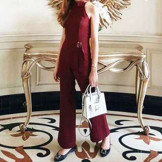 Cloth inc maroon jumpsuit