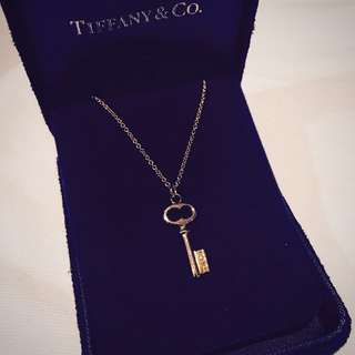 Tiffany Lock Gold Necklace