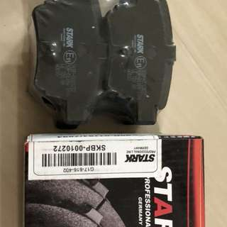Rear and front brake pads