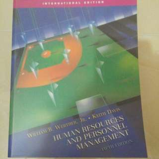 Human Resources and Personnel Management (5th edition)