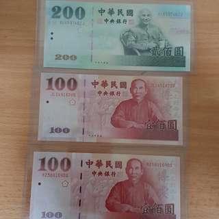 Taiwan banknotes