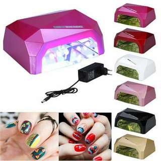 36W LED UV Nail Dryer Nail Lamp Diamond Shaped Nail Art Lamp Dryer Gel Polishes With Automatic Sensor for Home Use and Professional Beauty Nail Salon