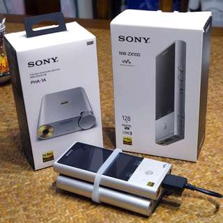 Sony Walkman NW-ZX100 and PHA-1A DAC USB amplifier