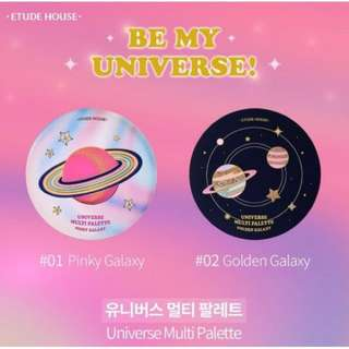 (SALE) NEWEST LINE Etude House Be My Universe Christmas Collection - Multi Palette