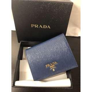 米蘭直送 Prada Saffiano Wallet (Blue) 1MV204 銀包