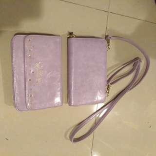 Ans 紫色 little twin stars 袋