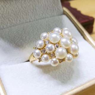 天然珍珠戒指 Natural pearl ring