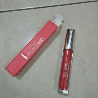 Wardah Exclusive Lip Matte Feeling Red No 06