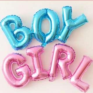 Baby Boy / Baby Girl Aluminum Balloon