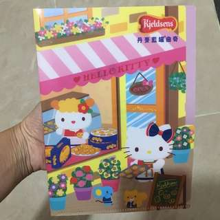 全新Hello Kitty x 丹麥藍罐曲奇 A5 file(不議價)