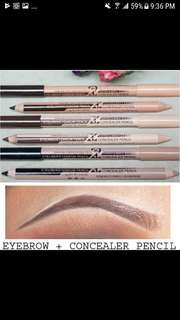 Authentic Menow 2in1 Pencil  Eyebrow & Concealer