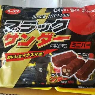 即期品😻日本 有樂黑雷神迷你棒 每包173g