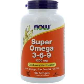 (現貨)Now Foods Super Omega 3-6-9 1200mg 0 直購