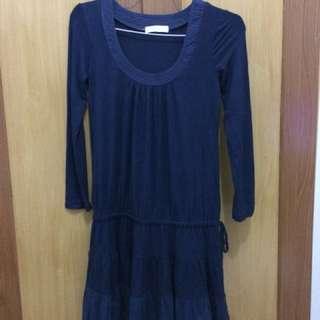Dress cantik navy blue