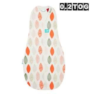 ergoCocoon 二合一舒眠包巾 0.2TOG 橙葉款