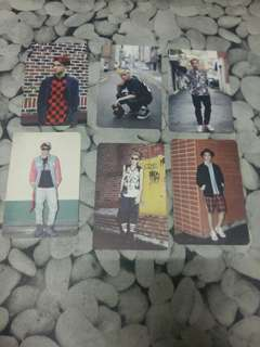EXO GROWL UNOFFICIAL PHOTOCARD