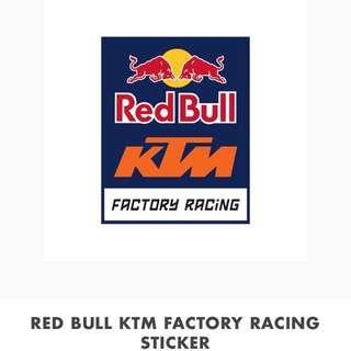 Original. RedBull KTM Factory Racing