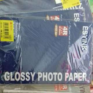 Glossy photo paper size 4r