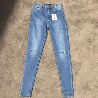Dotti Alexis Highwaisted Knee Rip Jeans BNWT