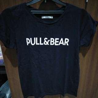 T shirt pull n bear navy