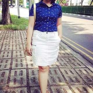 White skirt and polo bundle