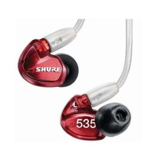Shure SE535 Sound Isolating Earphones Red ( limited edition)