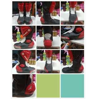男生No.6 RAPTOR 車靴(紅黑) 42碼