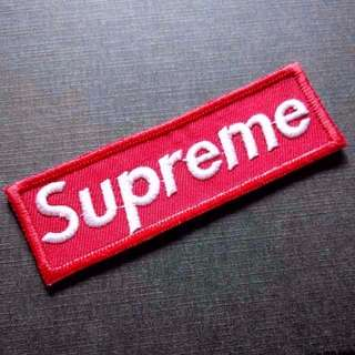 Supreme Banner Logo Iron On Patch