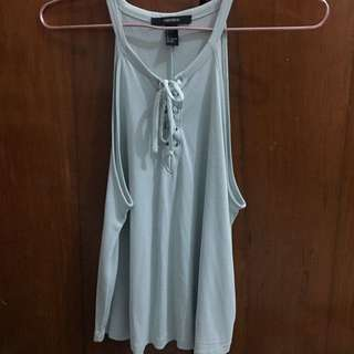 Lace up tank by forever 21