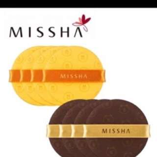 Missha Line Brown & Sally Air Cushion Puff For Bb Cushion
