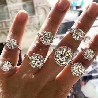 私人定做單粒鑽石不同組合的裸鑽GIA認可美美的美得可以私聊我!