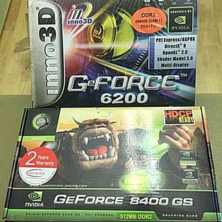 Brand New Nvidia GeForce 8400GS & Nvidia GeForce 6200