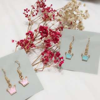 Sweet Crown Earrings Handmade