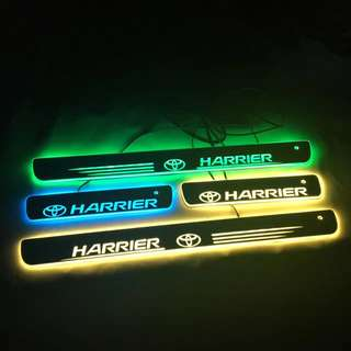 Toyota Harrier Rainbow Color Rotation LED Door Scuff Plates