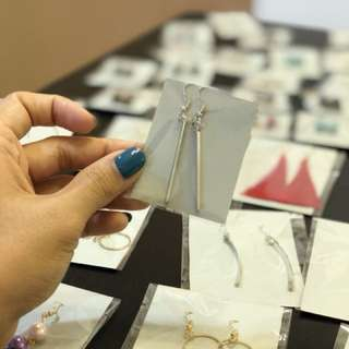 Simple stick Earrings Handmade