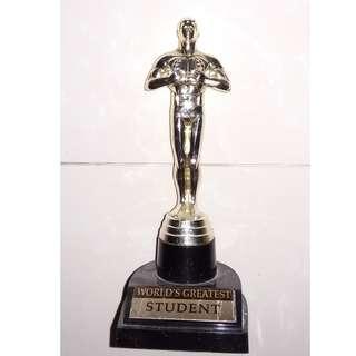 Oscar Statuette ( World's Greatest Student )