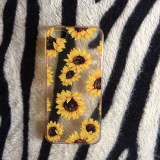 Iphone 5/5s/se clear sunflower case