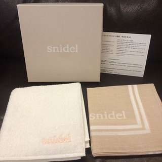 Snidel毛巾絲巾組