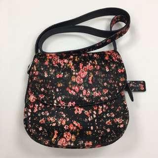 COACH Floral Pony Hair Saddle Messenger Bag COACH 碎花真皮馬毛Saddle手袋