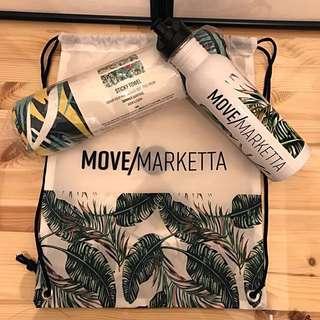 Tropical Move Marketta fit kit - Yoga mat towel, bottle & drawstring bag