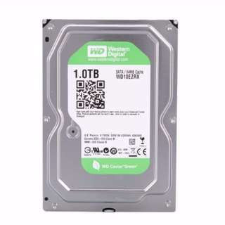 WD Green & Seagate Drives - 1TB