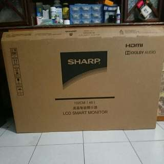 Sharp 40吋液晶螢幕  全新未拆封保固一年!!
