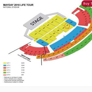 Mayday 2 June 2018 (2 CAT 1 tickets)