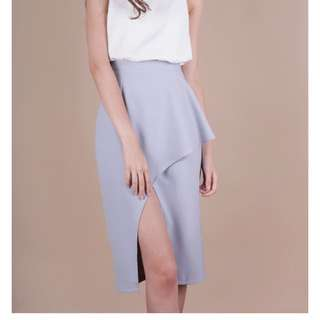 FION WATERFALL SLIT SKIRT (LILAC DRESS)