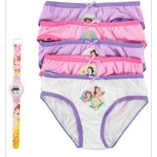 Disney Princess 5 Pack Panties Set